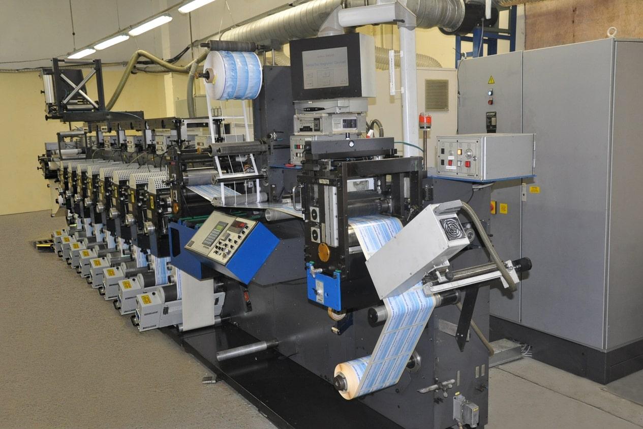 печатный станок в типографии